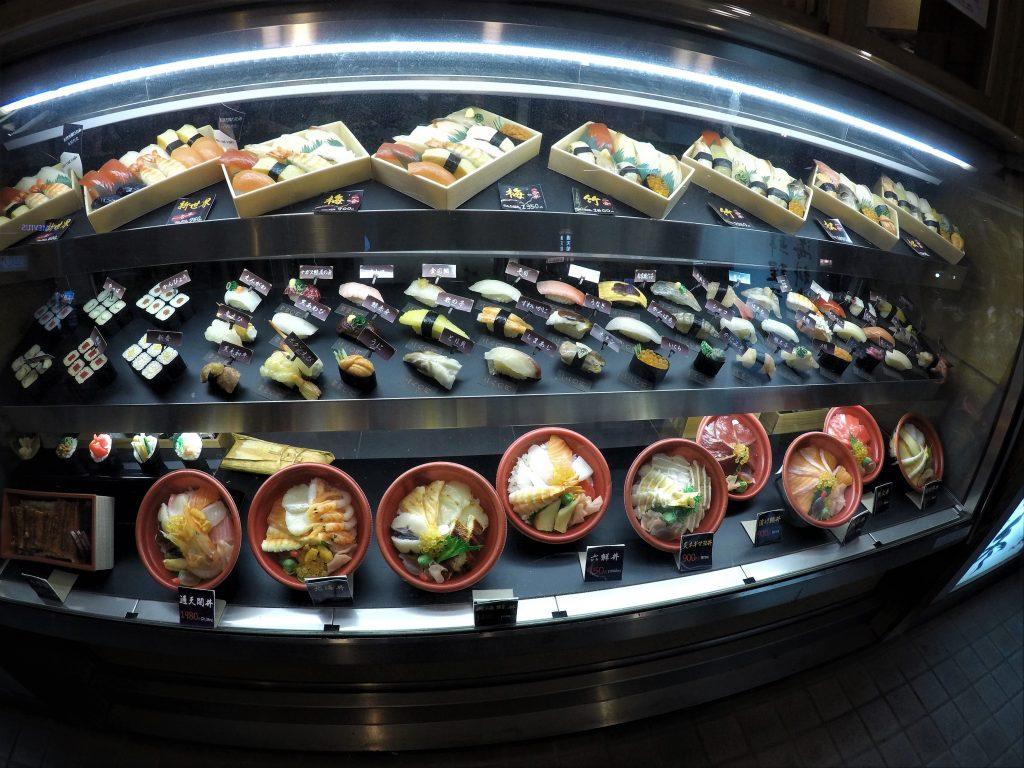 Comida de plástico no Japão